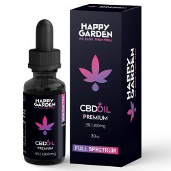 Happy Garden 5% CBD olaj 1500mg - 30 ml